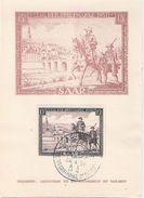 SAAR Land Tag Der Briefmarke 29.4.1951 M 15 Franc Marke Sonderstempel Extrablatt Gestempelt - [7] República Federal