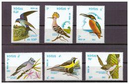Laos, Mi.-Nr. 541/46, **, 1982, Vögel - Unclassified