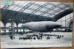 75 PARIS DIRIGEABLE DE M. LEBAUDY  GALERIE DES MACHINES AVIATION AEROSTATION - Dirigibili