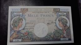 "Billet De 1000 Fr ""Commerce Et Industrie"" 24/10/1940 - 1871-1952 Circulated During XXth"