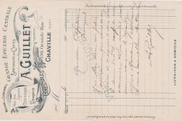 Bg - Facture Epicerie GUILLET à Chaville (Seine Et Oise) - 1900 – 1949