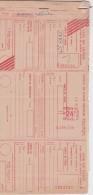 Bg - Rare Carnet De Chèque De Points Textiles Avec Carte Postale De Service - 5 Formules Vierges - Chèques & Chèques De Voyage