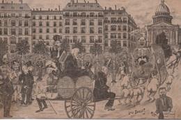 Illustration Politique Satirique Signée Léon Bouchet Affaire Dreyfus J'accuse - Satiriques