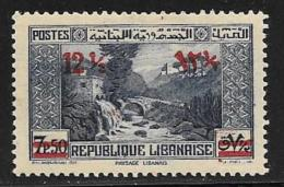 Lebanon Scott # 151 Mint Hinged Dog River  Surcharged, 1939 - Lebanon