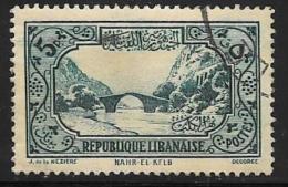 Lebanon Scott # 155 Used Dog River Bridge, 1940 - Lebanon
