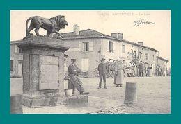 REPRODUCTION 55 Ancerville Le Lion( Charette, Cheval ) - France