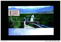 AUSTRALIA - 2010  GREAT AUSTRALIAN RAILWAY JOURNEYS   MS MINT NH - Blocchi & Foglietti