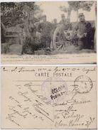 Guerre 1914. Sur Le Front. La Culasse D'un De Nos 75.... Viaggiata, Timbri Militari Francesi - War 1914-18
