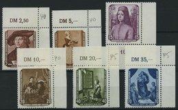 DDR 504-09 **, 1955, Gemälde, Je Aus Der Oberen Rechten Bogenecke, Prachtsatz, Mi. 32.- - DDR