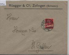 1916 Tell 126II/118II - Stempel: Zofingen 13.IX.16 (Rüegger & Cie.) - Schweiz