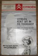 Calendrier Publicitaire Citroën 1989 12 Dessinateurs Walthery, Tibet, Dany ..12 Modèles De Voitures 2CV, AX, C15, CX .. - Calendriers