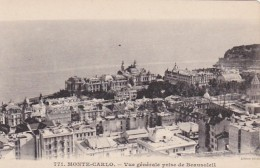 Monaco Monte Carlo Vue Generale Prise De Beausoleil - Monte-Carlo