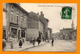 54. Dombasle Sur Meurthe. Rue Mathieu De Dombasle. Bureau De Poste Et Bureau De Tabac. Eglise Saint-Basle. 1913 - Autres Communes