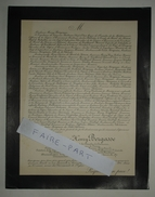 FAIRE-PART DECES 1901 BERGASSE BABEAU REVEL Du PERRON De GAILHARD-BANCEL Marseille Généalogie - Décès