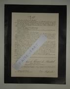 FAIRE-PART DECES 1911 De FERRIER De MONTAL De LA ROUVRAYE  JEANNEROD Ch. De La Rivière St-Quentin/Isère Courcival Sarthe - Esquela