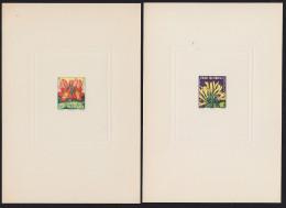 FRENCH EQUATORIAL AFRICA (1958) Euadania*. Spathodes*.  Set Of 2 Deluxe Sheets.  Scott Nos 200-1, Yvert Nos 243-4. - A.E.F. (1936-1958)