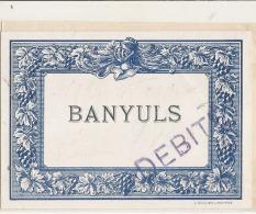 BAYULS  étiquette Ancienne (1930) Générique Imprimeur - Rouges