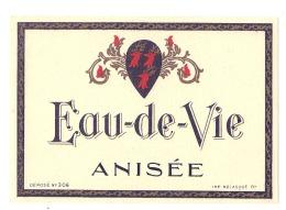 étiquette Générique Imprimeur - Eau De Vie Anisée - - Whisky