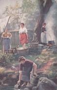 Cpa 2 Scans TUCK RAPHAEL,,,, OILETTE,,,,A SCOTTISH WASHING,,,,,VOYAGE 1919,,,,, - Tuck, Raphael