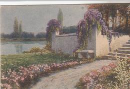 Cpa 2 Scans Proprieta' Artistica Riservata Propriété Sur Le Lac Lilas - Tuck, Raphael