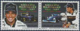 URUGUAY - SE-TENANT GONZALO RODRIGUEZ (1971-1999), RACE CAR DRIVER 2000 - MNH - Cars