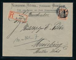 R.-Brief Borkum ( T3835 ) Siehe Scan - Lettres & Documents