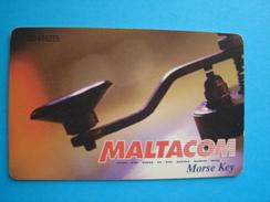 MALTA  USED CARDS   TELEPHONES MORSE KEY - Malta