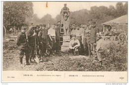 Ambulanciers Au Repos - Guerre 1914-18