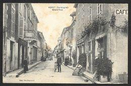 VERGT Rare Grand'Rue Coiffeur Café (Desveaux) Dordogne (24) - Autres Communes