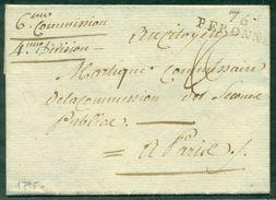 FRANCE.SOMME.76.PERONNE 1795 POUR PARIS B / TB - Poststempel (Briefe)