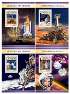 DJIBOUTI 2016 ** Space Explorations Weltraumforschung Exploration Spatiale 4S/S - IMPERFORATED - DH1726 - Africa