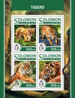 SOLOMON ISLANDS 2017 ** Tigers Tiger Tigres M/S - OFFICIAL ISSUE - DH1726 - Raubkatzen