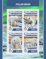 SOLOMON ISLANDS 2017 ** Polar Bears Polarbären Eisbären Ours Polaires M/S - OFFICIAL ISSUE - DH1726 - Ours