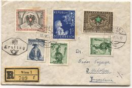 AUSTRIA - WIEN, REGISTERED COVER / ERSTTAG, 1954. - FDC