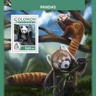 SOLOMON ISLANDS 2017 ** Pandas Pandabären S/S - IMPERFORATED - DH1726 - Bears