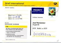 Ausland - Brief International Von Briefzentrum 92 Mit 90 Cent 2017 Werbestempel - BRD