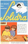D S/Buvard Drap Solidra (N= 2) - Buvards, Protège-cahiers Illustrés