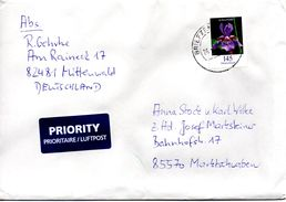 Brief Von Briefzentrum 82 Mit 145 Cent Blumen 2017 - BRD