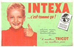 (D 7) Buvard Tricot Intexa - Blotters
