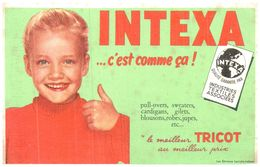 Tr In/ Buvard Tricot Intexa (N= 1) - Buvards, Protège-cahiers Illustrés