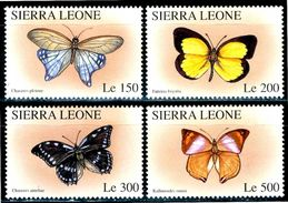 SIERRA LEONE 1996** - Farfalle / Butterflies - 4 Val. MNH Come Da Scansione. - Papillons