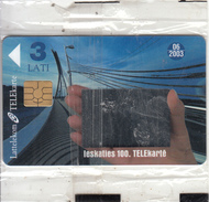 LATVIA - The 100th Telecard Of Lattlecom(with Mirror), Tirage %50000, Exp.date 06/03, Mint - Latvia