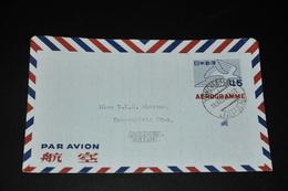 20- Aerogramme Yokohama Japan To Groningen Holland - 1926-89 Empereur Hirohito (Ere Showa)