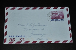 21- Aerogramme Yokohama Japan To Groningen Holland - 1926-89 Empereur Hirohito (Ere Showa)