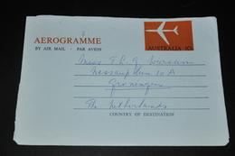 23- Aerogramme Australie To Groningen Holland - 1966-79 Elizabeth II
