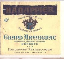 Grand Armagnac HARNAPPIER Peyrelongue - Reserve - Whisky
