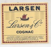 Cognac LARSEN BATEAU WIKING Et Relief - Whisky