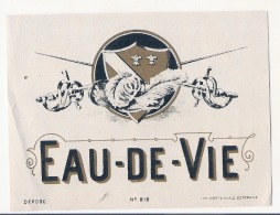 Eau De Vie étiquette Générique Imprimeur - Impression Au Dos - Déscriptif  - - Whisky