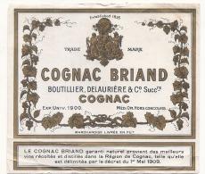 Cognac Briand -  Boutellier Delauriere  Successeurs - Whisky