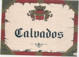 CALVADOS ---  étquette Générique Imprimeur - Impression Verso Descriptif Du Modele - - Whisky
